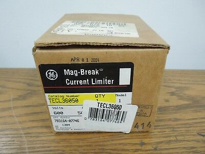 GE TECL36050 Mag-Break Current Limiter 50A 600V (Use w/ TEC MCP's) New Surplus