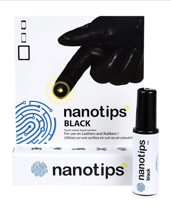 Nanotips Black Touchscreen Solution for Leather Rubber Gortex Gloves Waterproof