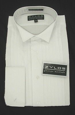 Zylos Tuxedo All Cotton Formal Shirt Wing Collar  $16.99 Free Black Bow Tie