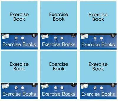 A5 6 Pack Excercise Books Ruled 48 Pages Kids School Stationery Note Pad Set