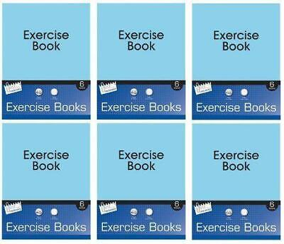 A5 Pack of 5 Excercise Books Ruled 52 Pages Kids School Stationery Note Pad Set