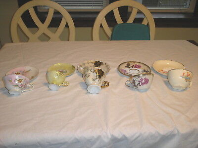 Lot of 5 Vintage Tea cup and Saucer Sets English Bone China , Japan Very Fine