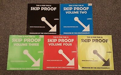 Scratchaholics - This Is For The DJ Skip Proof Volumes 1 - 5. Hip Hop Rare Vinyl