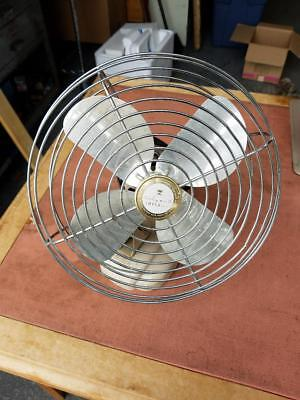 "VINTAGE Wizard imperial fan 10"" oscillates western auto supply co 6JC2006 WORKS"
