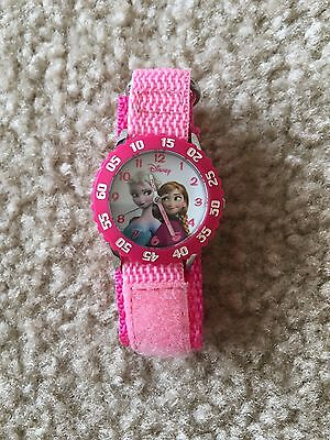 Disney Frozen Girl's Pink Analog Watch, Elsa & Anna