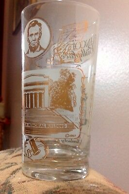 Lincolins Birthplace Ky, Souvenir Vtg Glass, Dated On Glass 1960