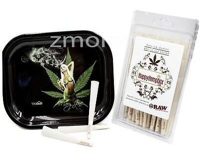 Raw Organic 1 1/4 Size Cones  75 count  With Mary Jane Rolling Tray