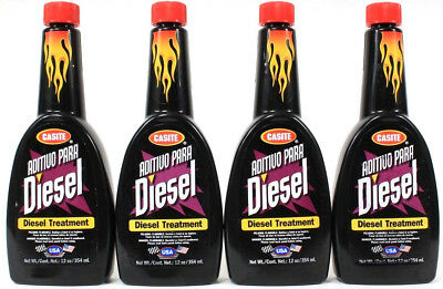 4 Bottles Casite Diesel Treatment By Hastings Replace Lost Sulfur Lubricity 12oz