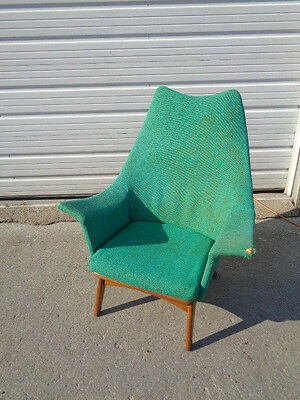 Adrian Pearsall Wingback Lounge Chair Sculptural Mcm