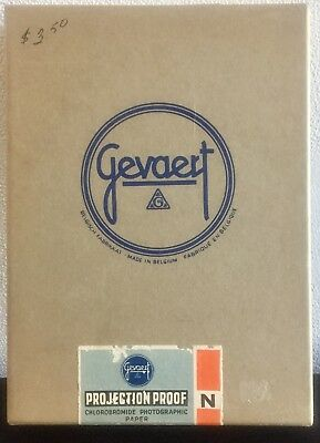 Vintage Gevaert 2N Projection Proof 5x7 Paper  100qty NOS/Sealed Belgium Made!!