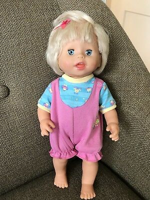 "Fisher Price Mattel 14"" Little Mommy Baby Ah Choo  Talking And Sneezing Doll"