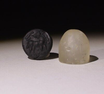 Superb Quality Ancient Carved Rock Crystal Seal - Circa 500Bc  - No Reserve 01
