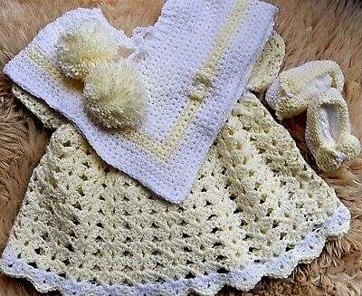 'CARIAD A CWTCH' Crochet outfit for 0-3 months old