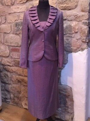 Gina Bacconi Stunning Purple Suit Size 16 Mother Of The Bride BNWT