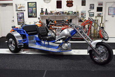 2016 Custom Built Motorcycles TRIKE CHROMED ENGINE CUSTOM DASH CHROME WHEELS  2016 CUSTOM VW TRIKE CHROMED ENGINE 4-SPEED MANUAL FLOOR BOARD BRAKES & CLUTCH