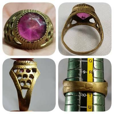 Medieval Antique Rare Glass Stunning Ring    # D