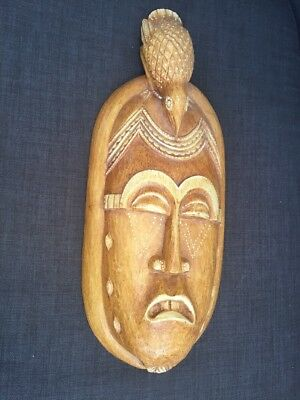 African Wood Mask Wall Hanging