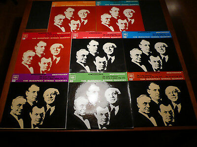 Beethoven 8 LPs CBS Budapest String Middle + Late Quartets, Vinyl