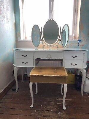 Vintage Dressing Table - French Antique 'Louis' Style, Shabby Chic
