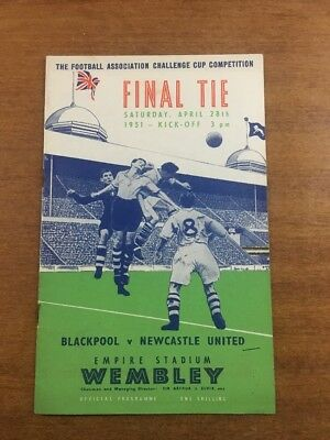 FA Cup Final: 1950/51: Blackpool v. Newcastle United