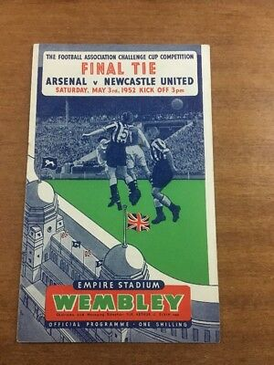 FA Cup Final: 1951/52: Arsenal v. Newcastle United