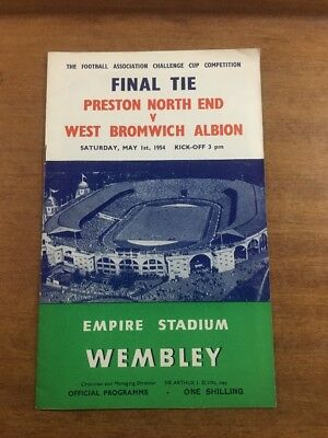 FA Cup Final: 1953/54: Preston North End v. West Bromwich Albion