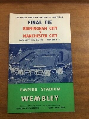 FA Cup Final: 1955/56: Birmingham City v. Manchester City: OFFICIAL & ORIGINAL