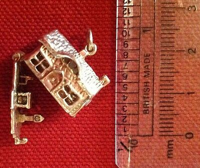 Rare Breloque Vintage Argent 925 Nuvo Rare Silver Opening House Charm