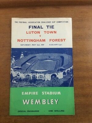 FA Cup Final: 1958/59: Luton Town v. Nottingham Forest: OFFICIAL & ORIGINAL