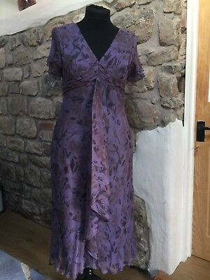 Gina Bacconi Silk Dress Size 18 Mother of the Bride BNWT