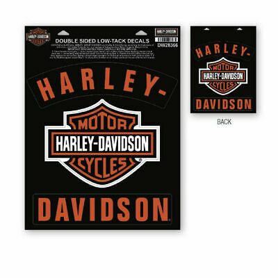 Harley-Davidson Window Sticker / Front and Back Printed dw28366