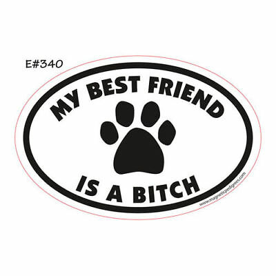 My Best Friend Is A Bitch Oval Euro Style Car Dog Magnet