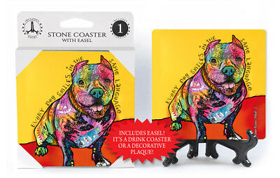 Pit Bull Every Dog Smiles In The Same Language Dog Dean Russo Drink Coaster