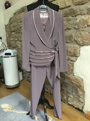 Gina Bacconi Stunning Trouser Suit Size 16 Mother of the Bride BNwT