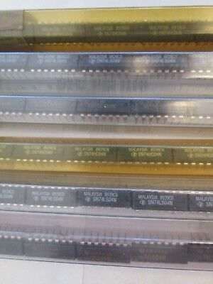 Lot of 170+ Vintage Computer Chips Texas Instrument  Tubes TI Microchip