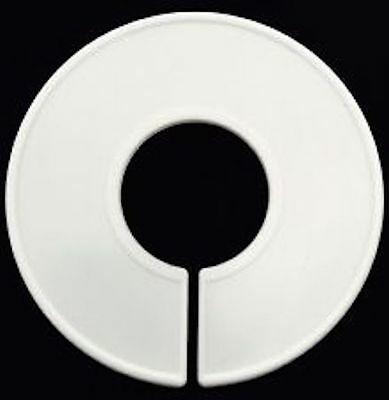 White Plastic Blank clothing round ring divider white lot of 20 pieces