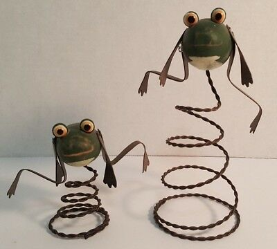 Set Of 2 Spring Frogs Home Decor.