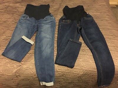 Maternity Lot XS Small 27 skinny Jeans Shorts A Pea in the Pod  Jessica Simpson