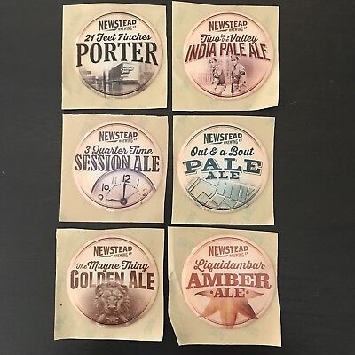Rare Newstead Brewing Co *Full Set* Discontinued Tap Decals x 6