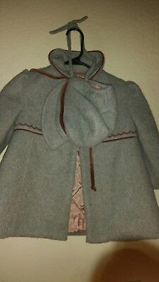 Vintage Cute Togs New York 2 Pc Tweed Coat and hat  Outfit Little Girls Size 3