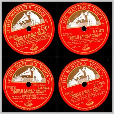 ADOLF BUSCH CHAMBER PLAYERS Mozart: Serenade in D Major K. 239   78rpm  Set665