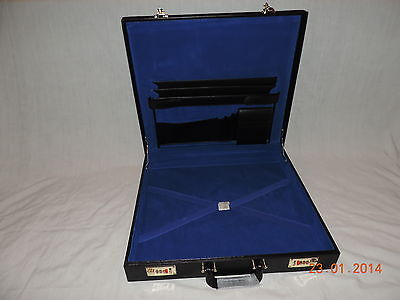 Brand New but VARIOUS MARKED  Masonic Lay Flat Case BONDED LEATHER