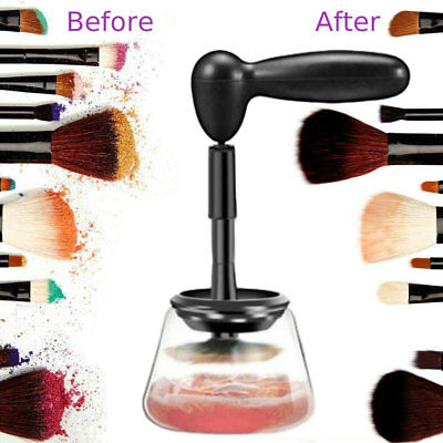 how to clean makeup brushes fast