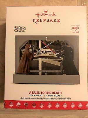Hallmark 2017 A Duel to the Death Star Wars New Hope Magic Ornament