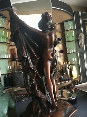 Art nouveau nude lady Large store display mirror