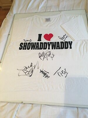 Showaddywaddy Autograhed Framed T Shirt