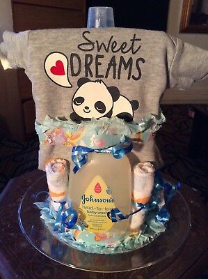 Sweet Dreams Diaper Cake for a boy