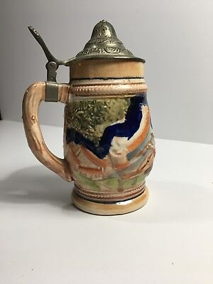 Vintage Ceramic Lidded Beer Stein Arnart  Japan