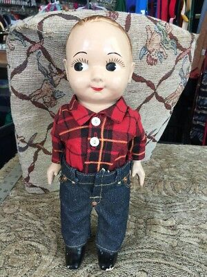 1950's BUDDY LEE COWBOY VINTAGE DOLL TOY GENUINE WITH RED SHIRT