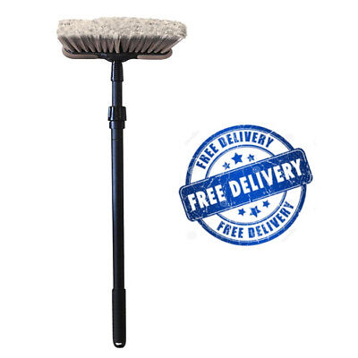"NEW Car Wash 8"" Dip Brush w/ Bumper 48"" Extension Handle Super Soft  Auto Truck"